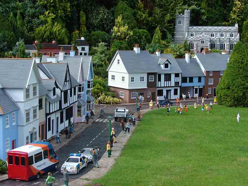 Village Green and houses at the Model Village